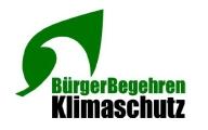 Logo des Vereins BürgerBegehren Klimaschutz e.V.