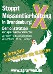 Aktionsplakat zur Demonstration in Cottbus